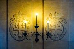 涅斯维日城堡烛台 库存图片