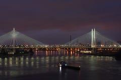 涅瓦河的闪光 库存照片