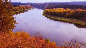 涅里斯河河在Kernave 库存照片