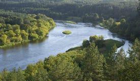 涅里斯河河 库存图片