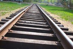 消失入距离的铁路 图库摄影