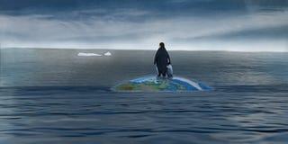消失的冰川 皇族释放例证