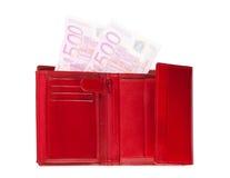 消失的欧元钱包 库存照片