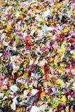 消息和花卉进贡对伦敦桥恐怖袭击的受害者 图库摄影