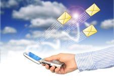 消息移动电话sms 库存图片