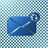 消息象,标志, 3D例证 库存图片