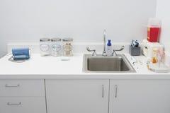 消毒作用水槽 免版税图库摄影