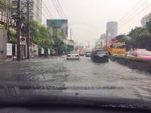消沉风暴在泰国 免版税库存照片