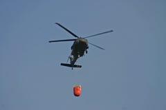 消火直升机 库存图片