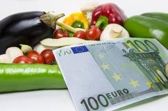 消耗大的蔬菜 免版税库存图片