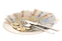 消耗大的食物 免版税库存图片