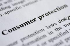 消费者保护法 免版税库存照片