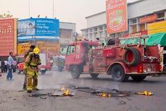 消防人员。 库存图片