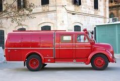 消防员卡车葡萄酒 免版税库存图片