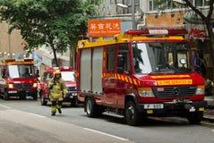 消防员卡车 免版税库存图片