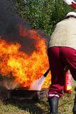 消防员培训 库存图片