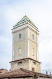 消防员的塔在科鲁Napoca的中世纪历史的中心 免版税库存照片