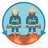 消防员行业消防的 库存例证