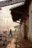 消防员配合 免版税库存图片