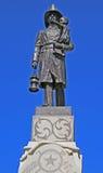 消防员雕象 免版税图库摄影