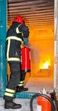 消防员-训练 免版税库存照片