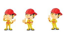 2消防员 图库摄影