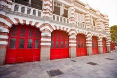 消防局美丽的门面在新加坡 免版税库存图片