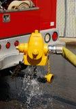 消防栓测试 图库摄影