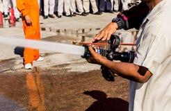 消防训练 库存照片