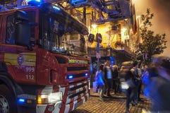 消防车在都伯林 免版税库存照片