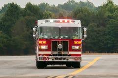 消防车的前面 图库摄影