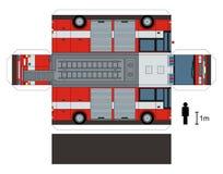 消防车的纸模型 库存图片