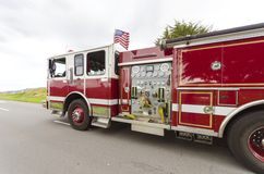 消防车,旧金山 免版税库存照片