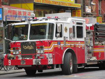 消防车/引擎,唐人街,纽约 免版税库存照片