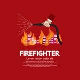 消防队员。 免版税库存图片