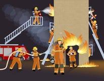 消防队员人设计观念 库存照片