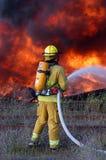 消防队员火焰 库存图片