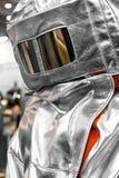 消防队员的防护衣裳 免版税图库摄影