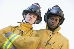 消防队员纵向 库存照片
