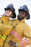 消防队员纵向 免版税图库摄影