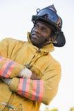 消防队员纵向 免版税库存图片
