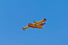 消防队员飞机 免版税图库摄影