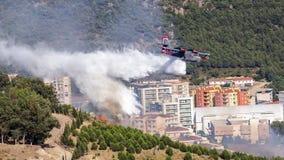 消防队员飞机 免版税库存照片