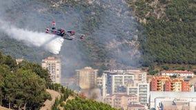 消防队员飞机 库存照片