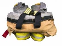 消防队员齿轮 免版税库存图片
