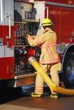消防队员水管 免版税图库摄影