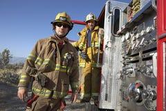 消防队员画象  免版税库存照片