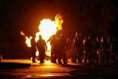 消防队员TrainingII 免版税库存图片