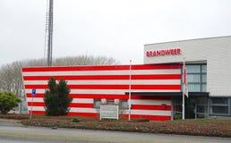 消防队在荷兰 免版税库存图片