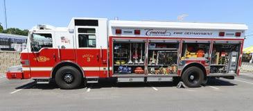 消防队抢救卡车 库存照片